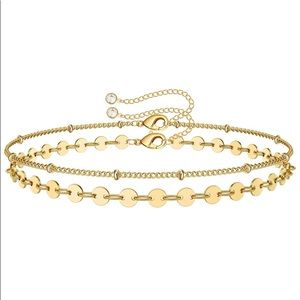 Bead Chain Stacked with Disc Chain Bracelet